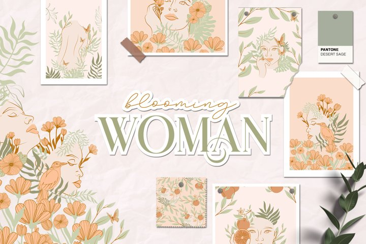 Blooming Woman & animated
