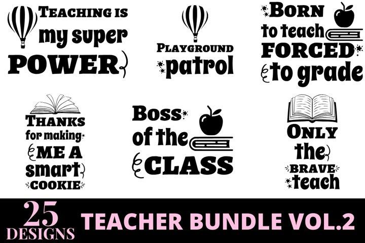 25 designs teacher quotes bundle vol 2