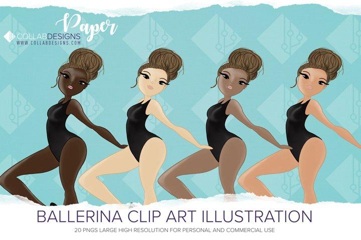 Ballerina Clipart bundle Creators kit PNG diverse set