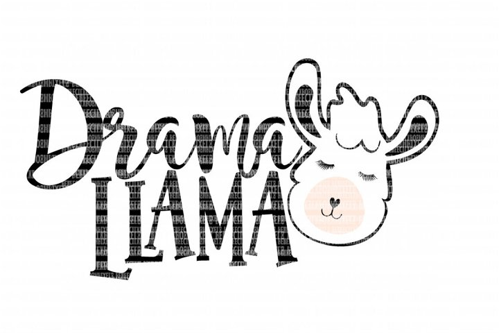 Drama Llama SVG File, SVG Files for Cameo and Cricut Design Space, Iron on Decal, Printable Transfer, DXF Commercial Use,