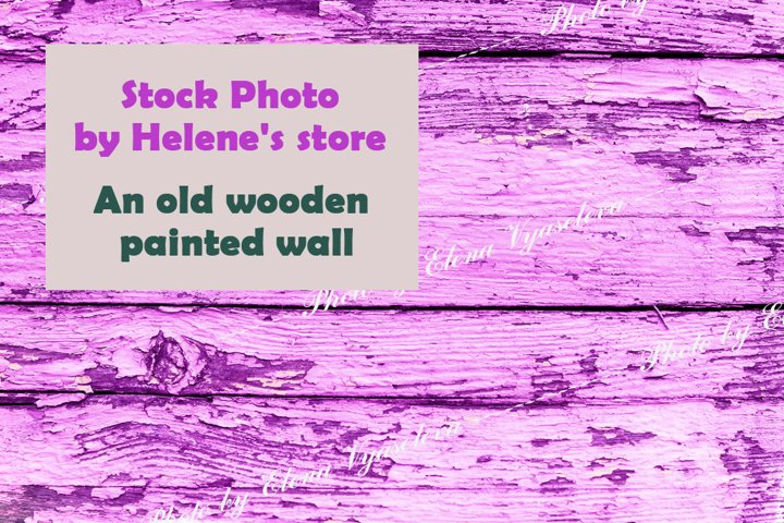 Texture of an old wooden pink wall