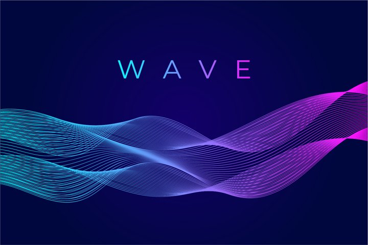 Dynamic line wave abstract background. Vector illustration