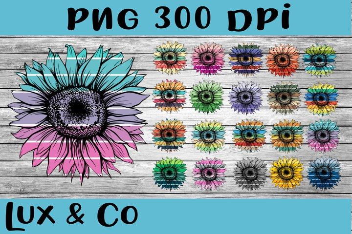 Sunflower Stripes Bundle Sublimation PNG