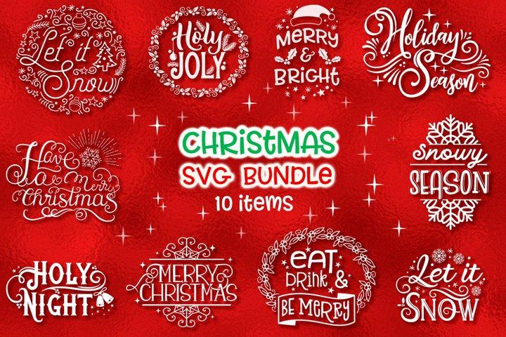Christmas SVG Bundle - 10 items