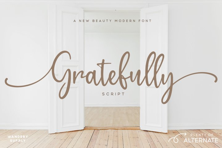 Gratefully Script Font