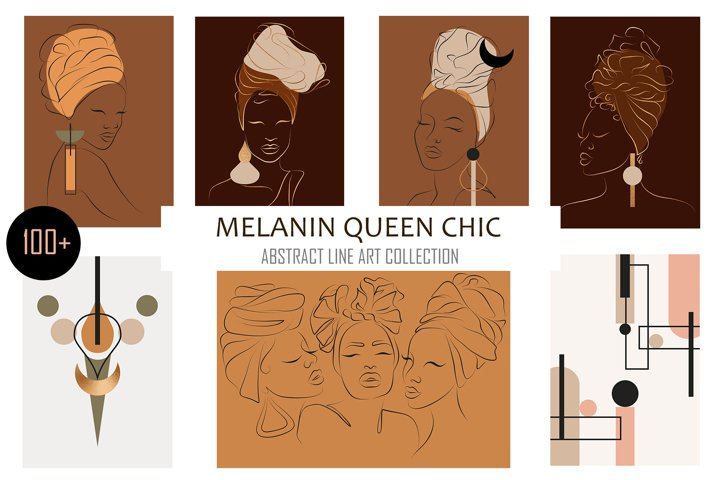 MELANIN QUEEN bundle prints Afro Women figures & portraits