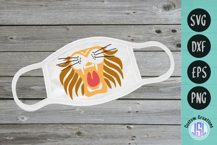 Lion Face for Mask | Zoo Animal Masks SVG | SVG DXF EPS PNG