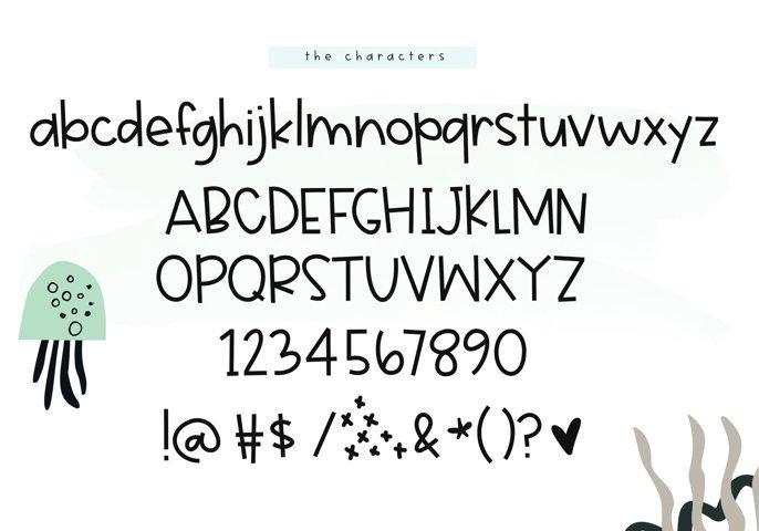 Jellyfish - A Fun Handwritten Font - Free Font of The Week Design3