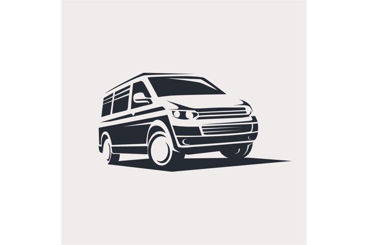 mini van symbol logo template