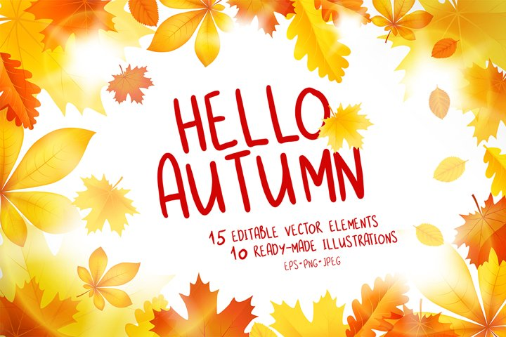 Hello Autumn Vector Collection