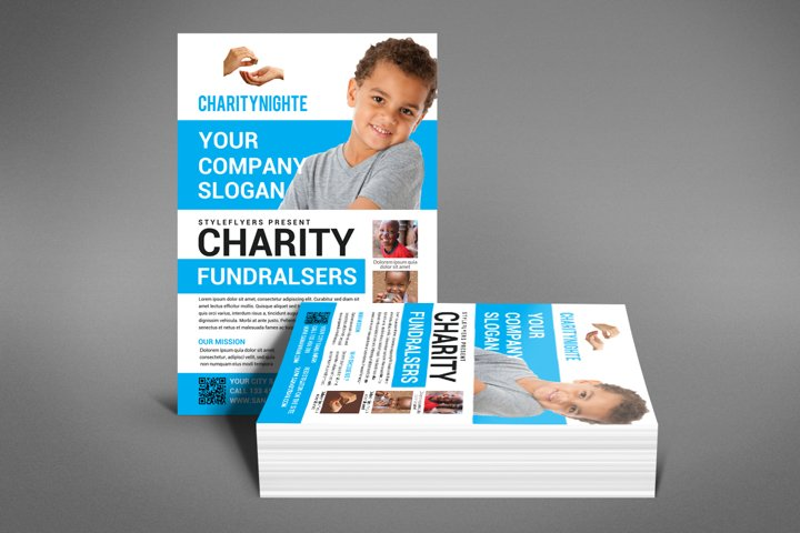 Charity Night Fundraisers Flyer