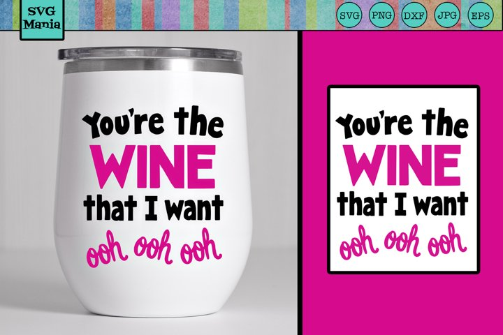 Wine SVG, Funny Wine Glass SVG File, Wine Saying Cut File