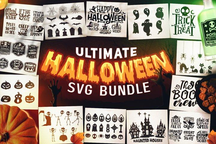 Halloween SVG Bundle - Halloween Sayings SVG - Cutting Files