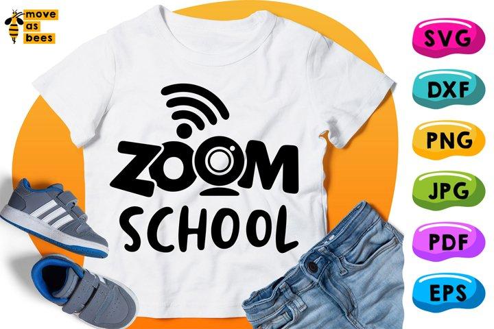 Zoom School Svg, Virtual, Distance Learning, Teaching Shirt