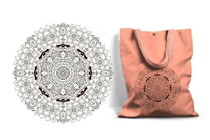 Oriental ornament relaxing. Mandala. Coloring Round figure