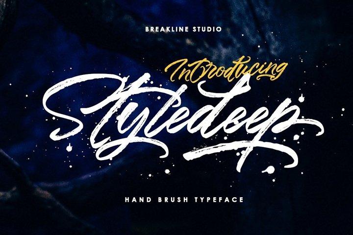 Styledeep Brush Typeface