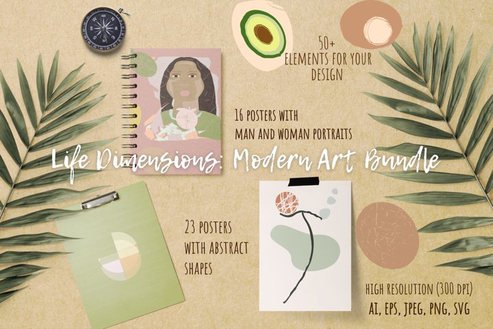 Life Dimensions. Modern Art Bundle