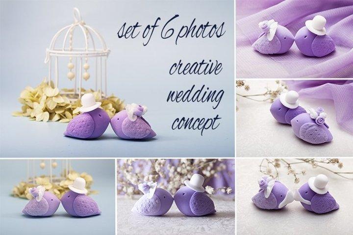Wedding birds set