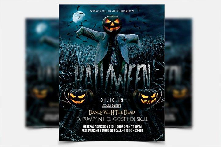Halloween Night - PSD Flyer Template