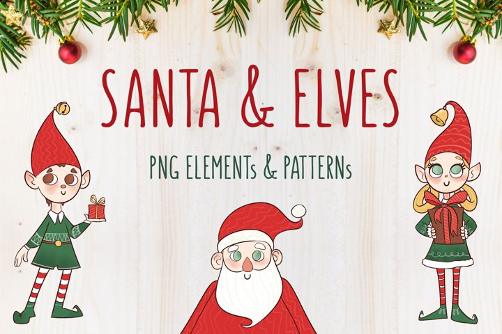 SANTA & ELVEs - Png illustrations and patterns by TdT