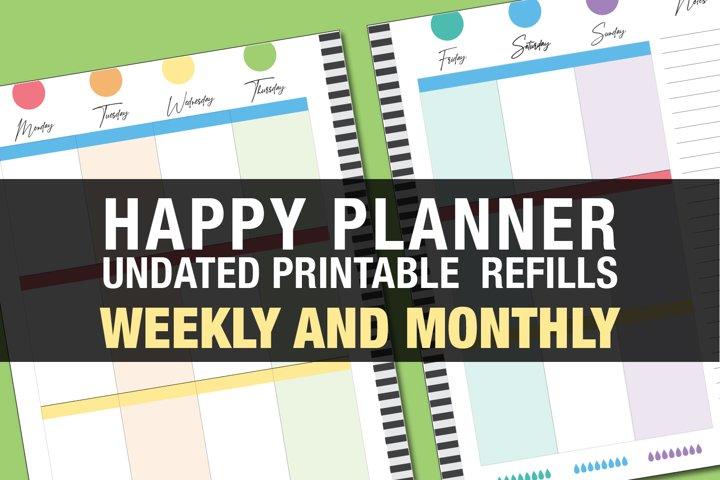 Happy Planner Printable Weekly Refills - Rainbow bright