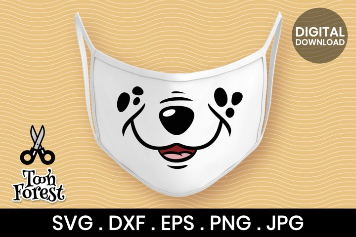 Dog nose SVG, DXF, EPS, and PNG cut files for face mask