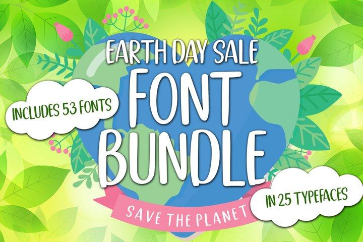 Earth Day Sale Font Bundle
