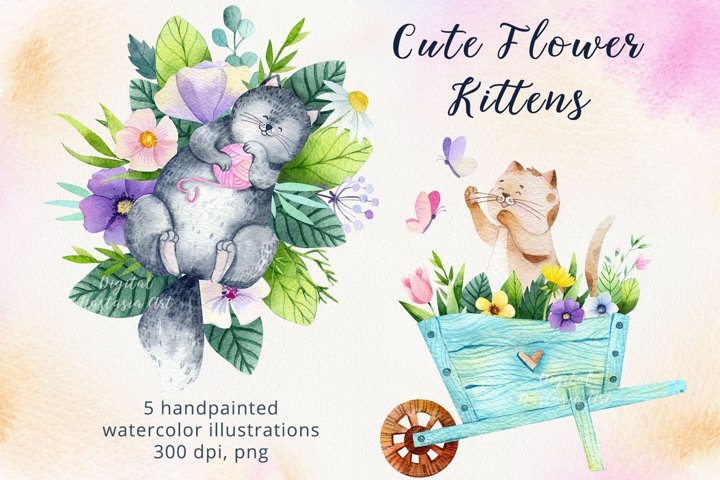 Cat and Kittens Floral Compositions