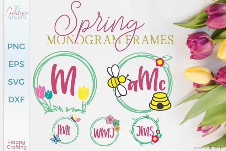 Spring Monogram Frames - Set of 5