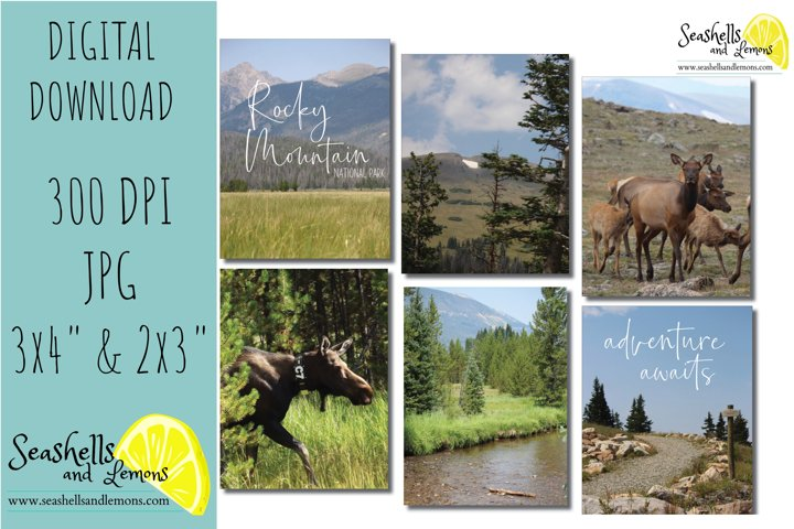 Rocky Mountain - Colorado - Hiking Pocket Cards Planner