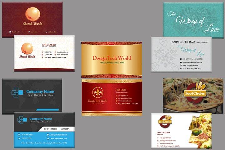 Business cards bundle set of 5 - Special Offer