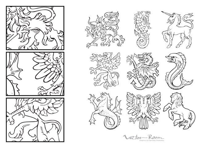 Heraldic Monsters Vol. I