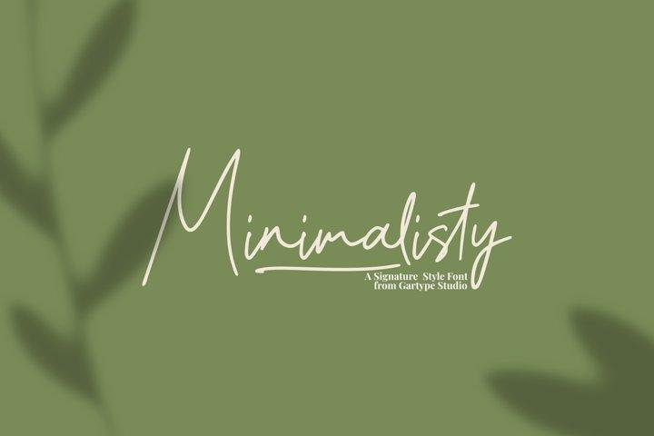 Minimalisty - Signature Style Font