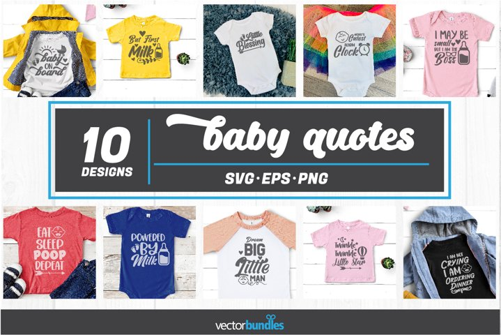 Baby quote bundle svg