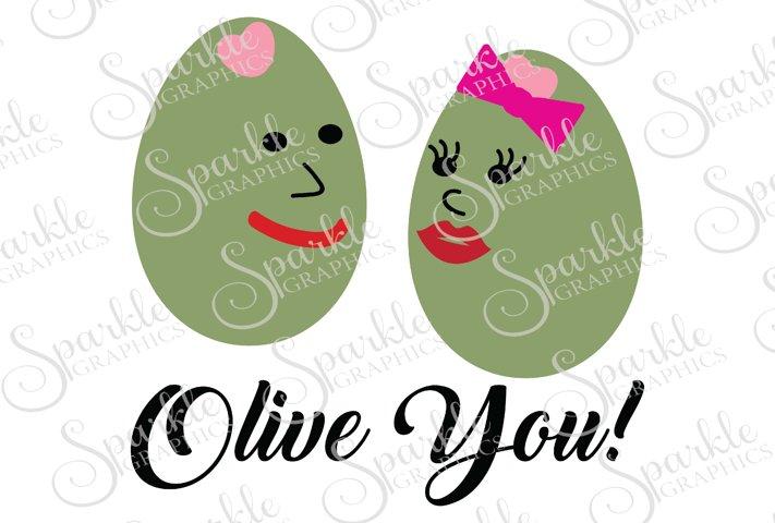 Olive You Cut File | SVG, EPS, DXF, PNG