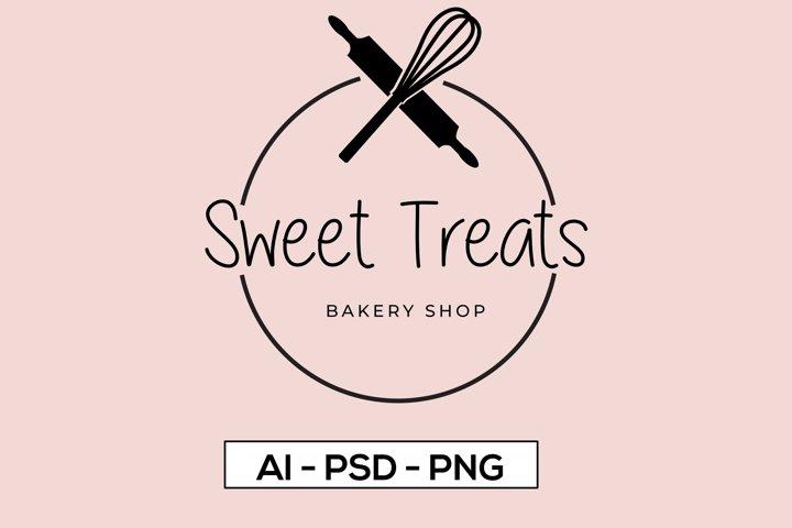 Bakery Logo Design Template, Bakery Logo Vector, Baking Logo