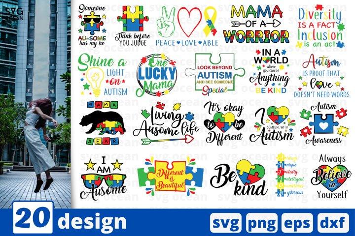 AUTISM AWARENESS SVG BUNDLE | Autism teacher | Autism mama