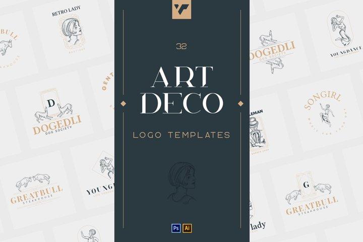 32 Art Deco Logo Templates