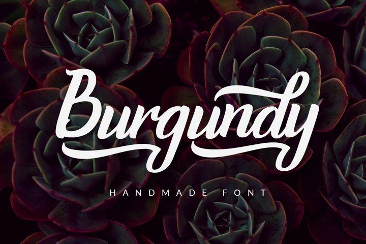 Burgundy - Handmade Font