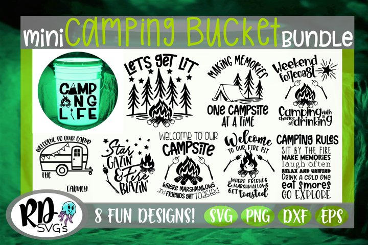 Camping Bucket Bundle - A Fun Bundle of Cricut Cut Files