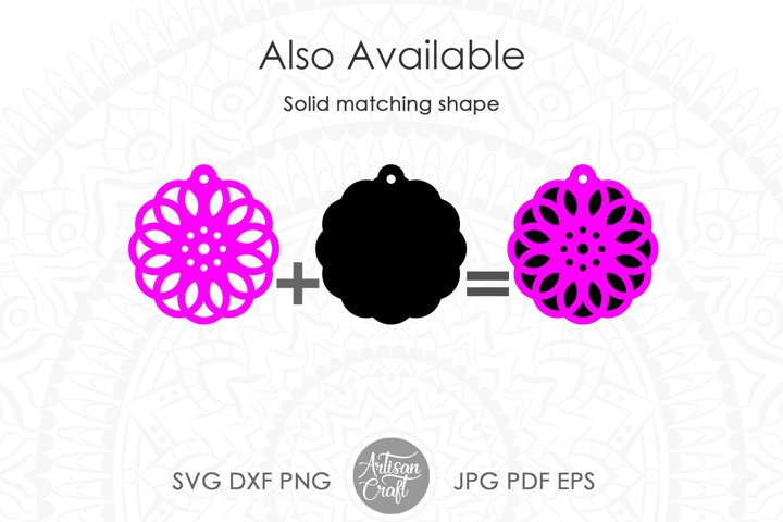 Geometric earring SVG, Leather earring template, Cut file example 4