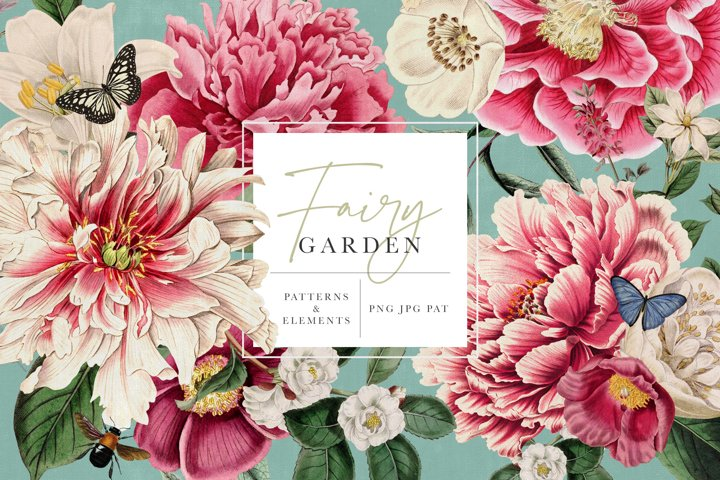 Fairy Garden Floral Patterns & Graphics