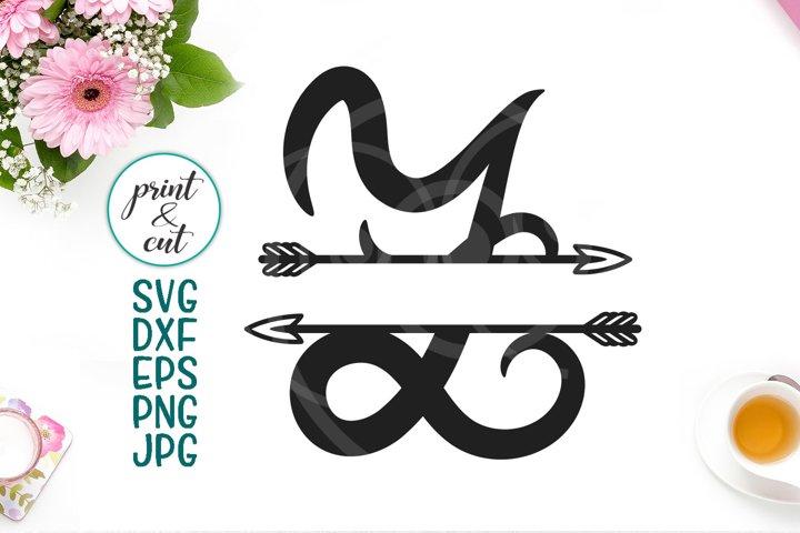 Monogram letter Z svg dxf cut file, split font with arrows
