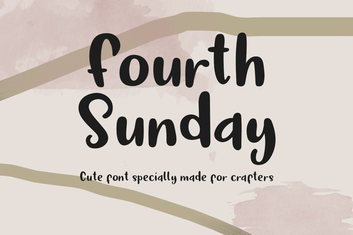Fourth Sunday Cute Font for Crafts