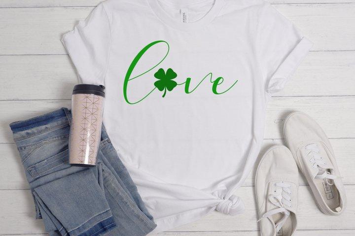 Love svg, png, st Patricks day svg, clover svg