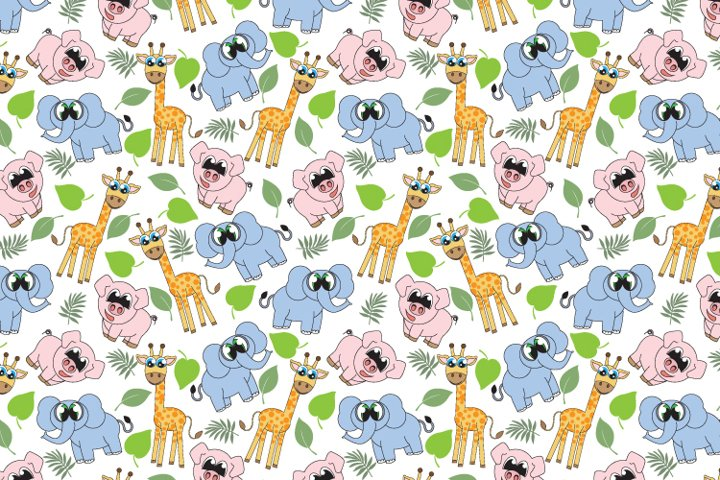 animal and lef seamles pattern, copy space