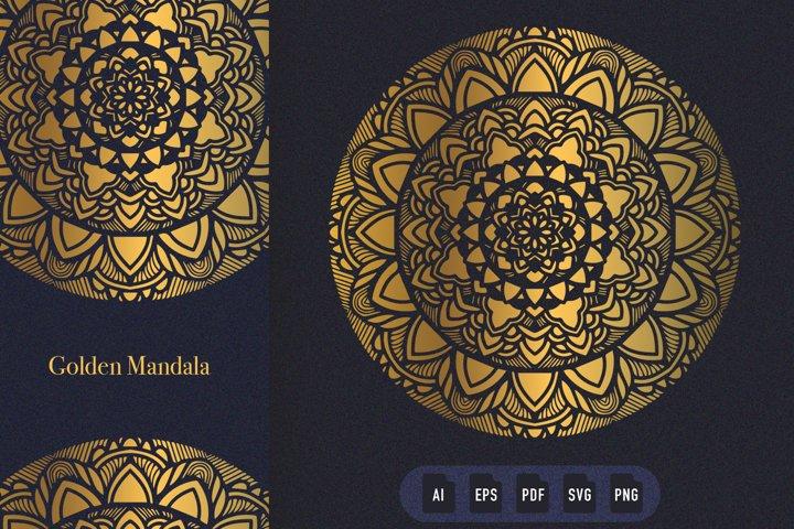 Golden Mandala Art 09