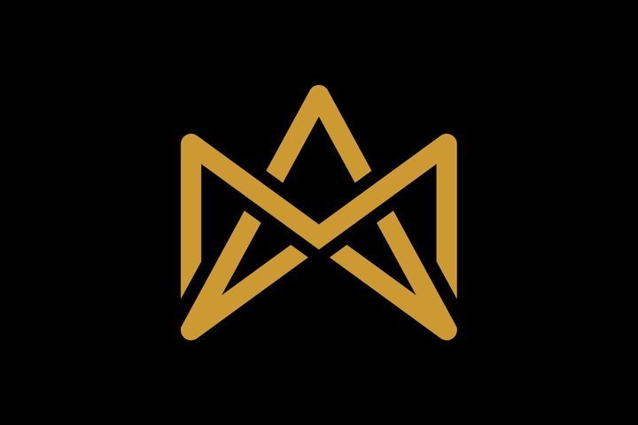 initial MA/AM luxury monogram logo template