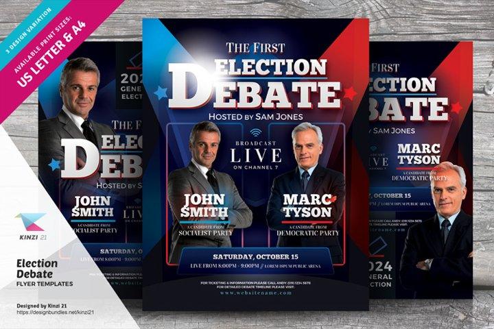 Election Debate Flyer Templates