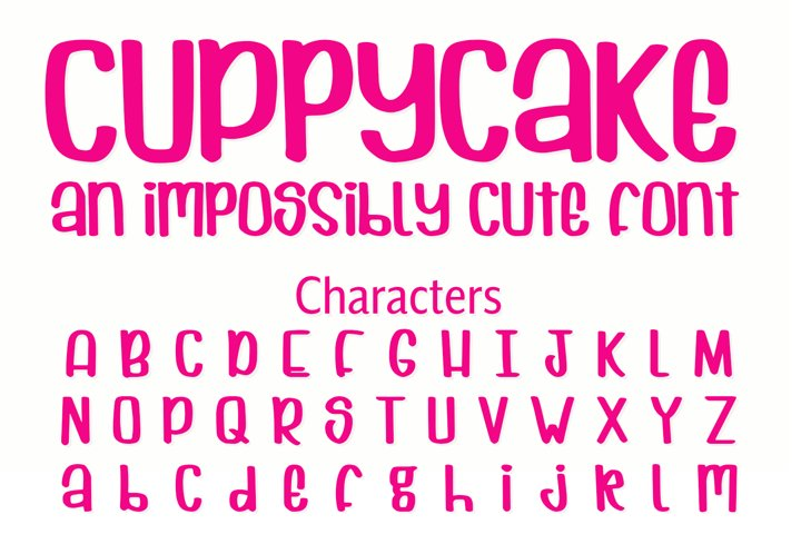 Cuppycake - an impossibly cute font - Free Font of The Week Design10